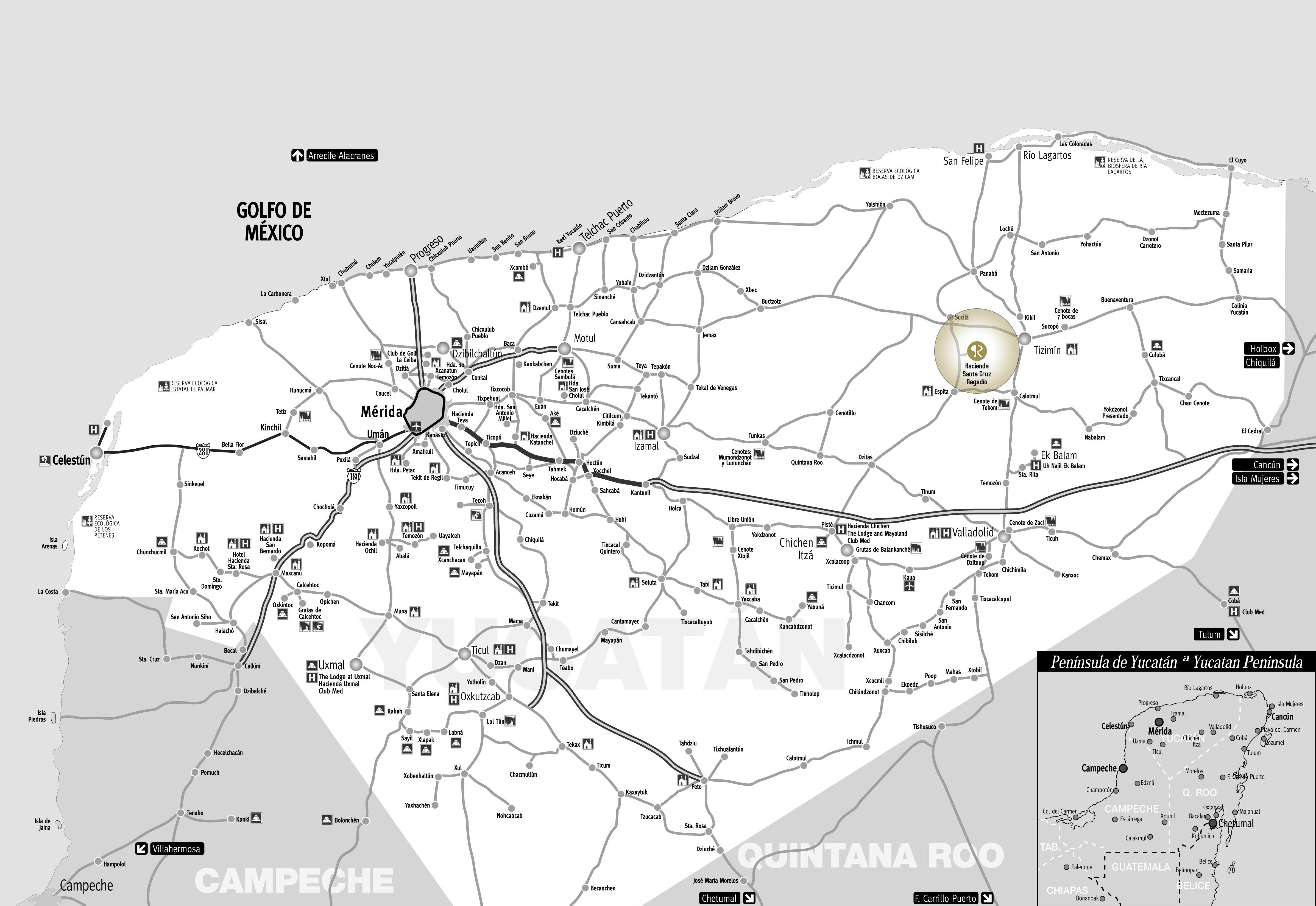 Mapa Santa Cruz Regadio Hacienda Santa Cruz Regadio